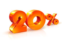 Discount twenty percent. Isometric style Royalty Free Stock Images