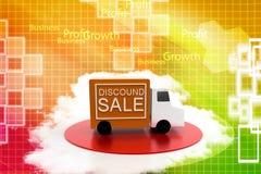 Discount Van Illustration Stock Image