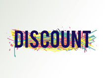 Discount. Vector colorful discount background. Abstract texture. Artistic design element. Sale banner Royalty Free Stock Image