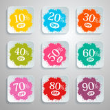 Discount Vector Splash - Paper Labels Set Stock Image