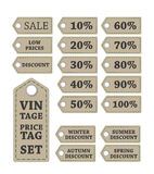 Discount vintage price tags Stock Images
