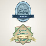 Discount vintage retro design style Stock Photo