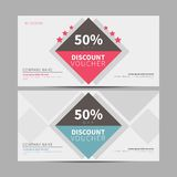 Discount voucher, coupon template royalty free illustration