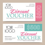 Discount Voucher, Gift Card or Coupon design. Creative Discount Voucher, Gift Card or Coupon template layout, Vector illustration Stock Images