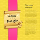 Discount Voucher Holidays Offer Promo Advertising Royalty Free Stock Images