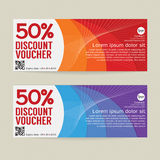 50% Discount Voucher Modern Template Design. Stock Photography
