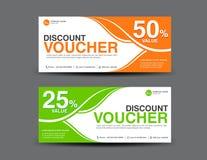 Discount Voucher template, coupon design,ticket, card design Stock Image