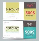 Discount voucher template. Flat design Royalty Free Stock Photos