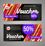 Discount voucher template Stock Photo