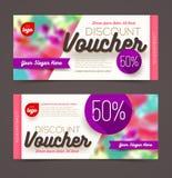 Discount voucher template Stock Image