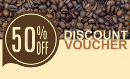 Discount Voucher Template Rastr Illustration Royalty Free Stock Images