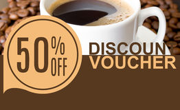 Discount Voucher Template Rastr Illustration. For Your Business stock image
