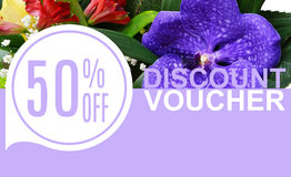 Discount Voucher Template Rastr Illustration. For Your Business royalty free stock photography