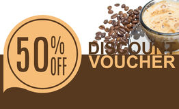 Discount Voucher Template Rastr Illustration. For Your Business stock images