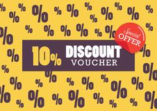 Discount voucher vector illustration Royalty Free Stock Photos