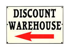 Discount Warehouse Sign Stock Photo