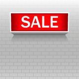 Discount warning messages. Sale. Warning board. Royalty Free Stock Photo