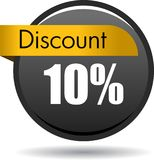 10 Discount web button icon. Vector illustration isolated on white background - 10 Discount web button icon Stock Photo