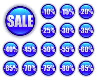 Discount web buttons Stock Photo