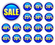Discount web buttons Stock Photography