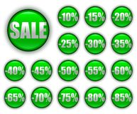 Discount web buttons Royalty Free Stock Image