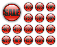 Discount web buttons Royalty Free Stock Photo