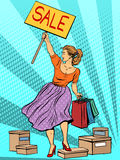 Discount woman sale Royalty Free Stock Photos