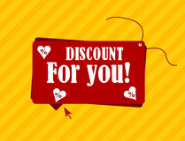 Discount for you label with text Royalty Free Stock Photography