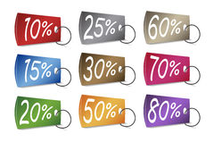 Discounted Prices Tags Stock Photo