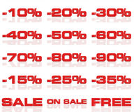 Discounts 02. Discounts to sale cheaper good offer stock illustration