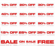 Discounts 04. Discounts to sale cheaper good offer stock illustration