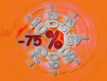 Discounts -75 percent Stock Image