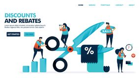 Free Discounts And Rebates In Shopping. Butts Cut Discount Voucher. Bonus Deduction For E-commerce Purchase And Service Royalty Free Stock Photography - 162397577