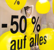 Discounts as a percentage Stock Photography