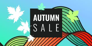 Discounts autumn bright background Stock Images