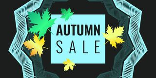 Discounts autumn bright background Royalty Free Stock Images