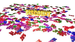 Discounts concept isolated on white Royalty Free Stock Photo