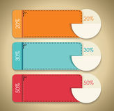 Discounts,cute gift vouchers, certificates, coupons Stock Image