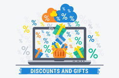 Discounts and gifts Royalty Free Stock Images