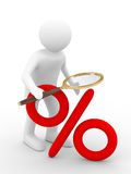 Discounts. Increase percent Stock Photo
