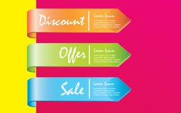 Discounts labels Royalty Free Stock Image