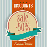 Discounts retro poster Stock Photo