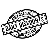 Daily Discounts rubber stamp Stock Photos