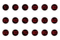 Discounts ,sale. black Friday. red price. logo, information, sticker. Figures 1, 2, 3, 4, 5, 6, 7, 8, 9, 0. Discounts ,sale. black Friday red price logo Royalty Free Stock Images