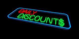 Daily Discounts Royalty Free Stock Photo