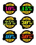 Discounts stickers Stock Photos