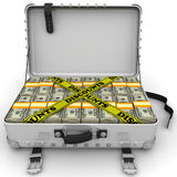 Discounts. Suitcase full of money Royalty Free Stock Photography