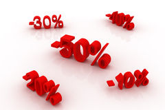 Discounts up to 50%! Stock Image