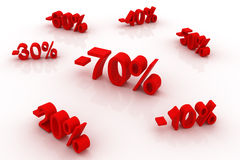 Discounts up to 70%!. Huge discounts, up to 70 percent Royalty Free Stock Photo