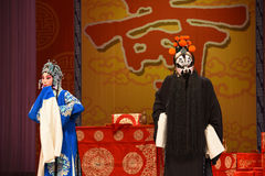 "The discouraging news- Beijing Opera"" Women Generals of Yang Family"" Stock Images"
